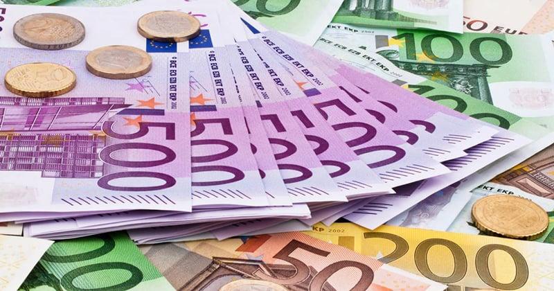 Moedas e Euros em Hamburgo