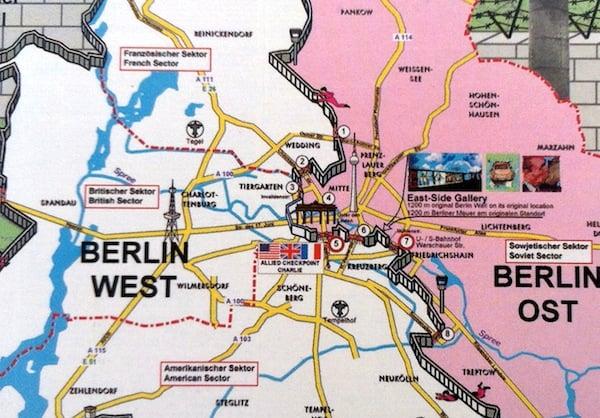 Mapa turístico de Berlim