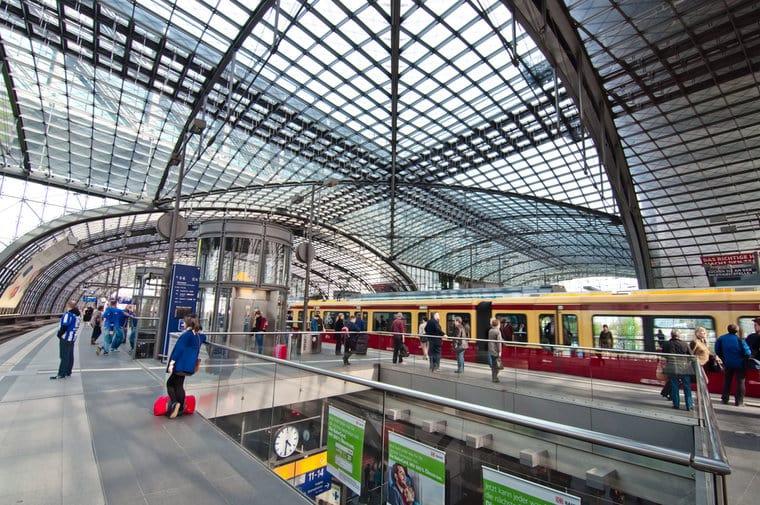 Viagem de trem em Berlim