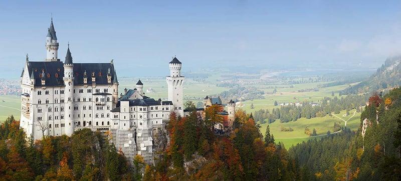 Castelo Neuschwanstein na cidade de Fussen
