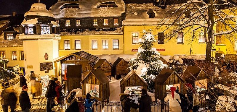 Erzgebirgischer Weihnachtsmarkt em Berlim