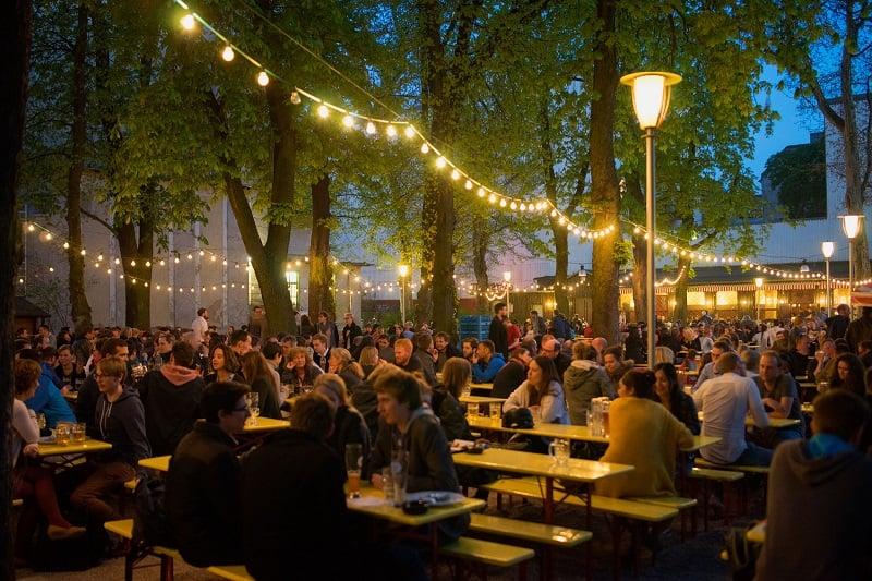 Biergarten em Berlim