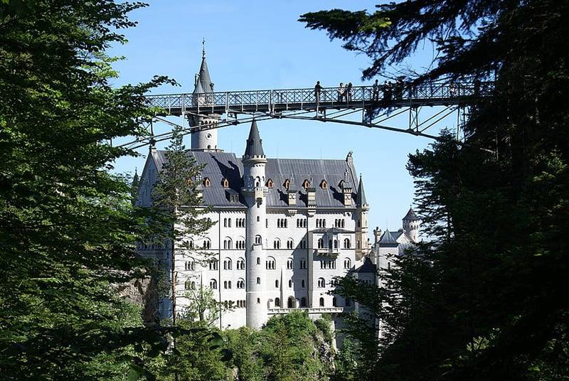 Ponte Maria no Castelo Neuschwanstein na Baviera