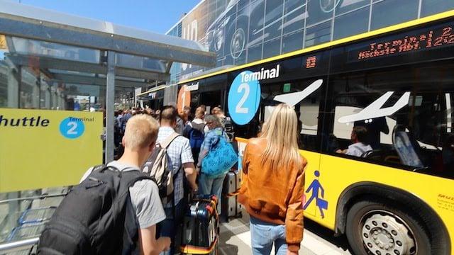 Ônibus do aeroporto até o centro de Frankfurt
