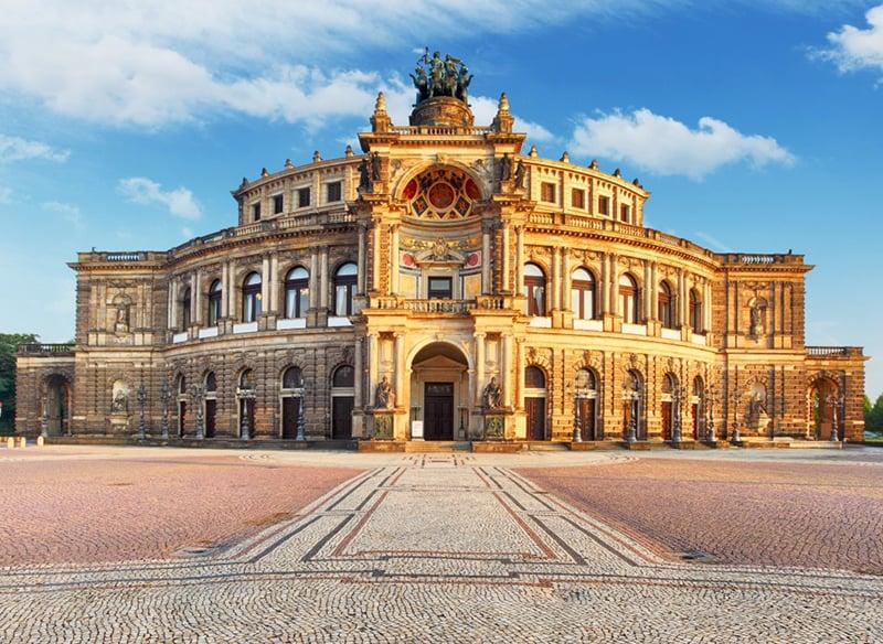 Verão em Dresden