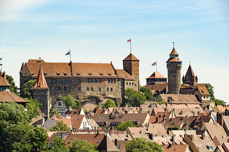 Castelo de Nuremberg na Baviera