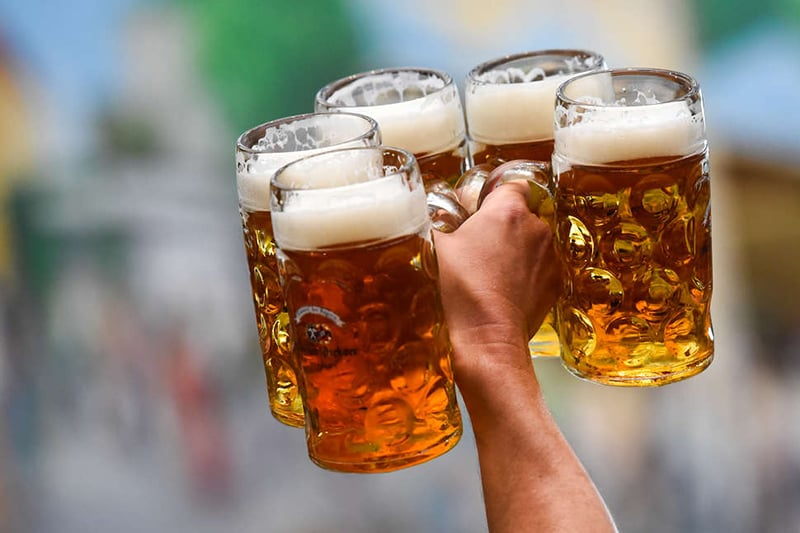 Bebidas na Oktoberfest da Alemanha