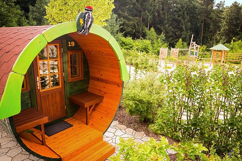 Campingfass no Hotel Legoland na Alemanha