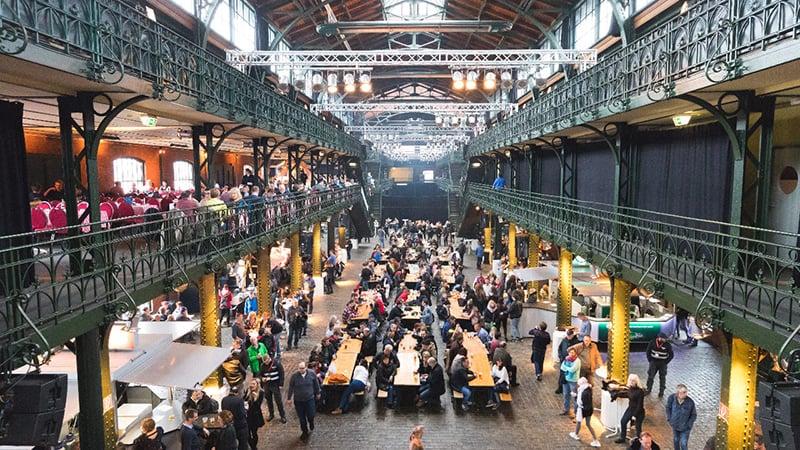 Mercado de Peixes em Hamburgo na Alemanha