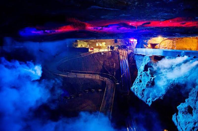 Interior das Minas de Sal Berchtesgaden