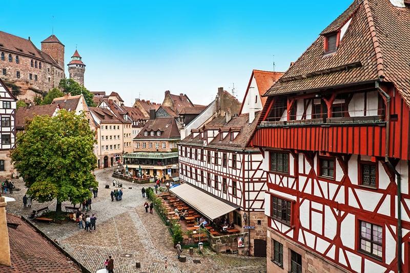 Ruas de Nuremberg na Alemanha