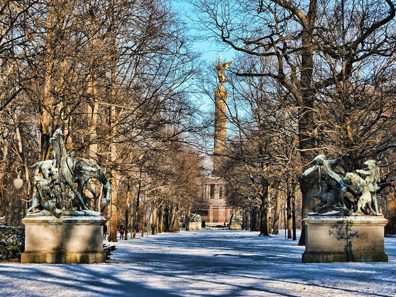 Parque Tiergarten em Berlim em dezembro