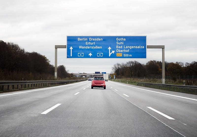 Estrada de Munique para Berlim