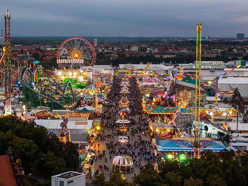 Complexo Theresienwiese na Oktoberfest na Alemanha