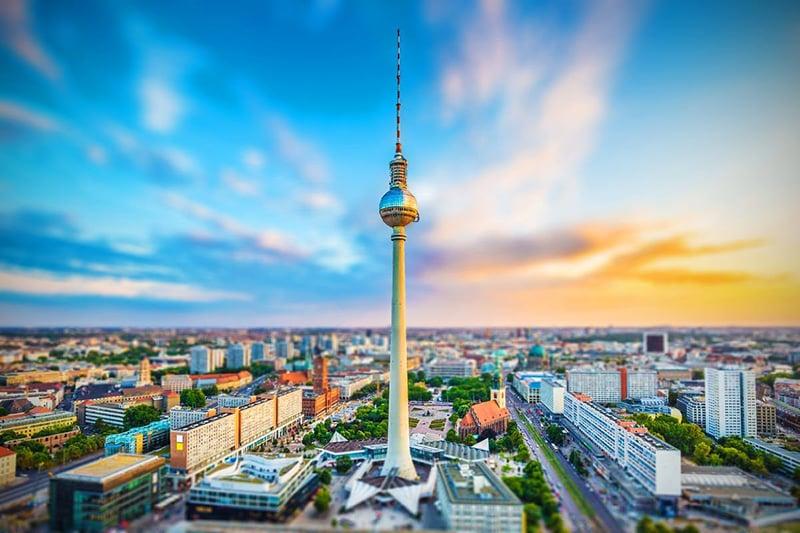 Edifício da Torre de TV em Berlim