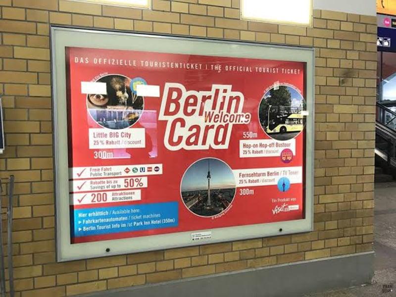 Propaganda do Berlin WelcomeCard