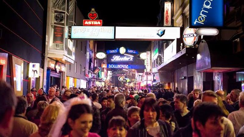 Rua do Bairro Vermelho em Hamburgo