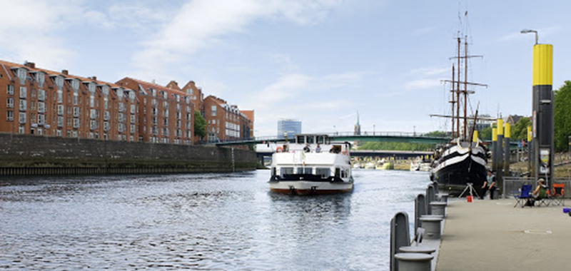 Rio Weser em Bremen