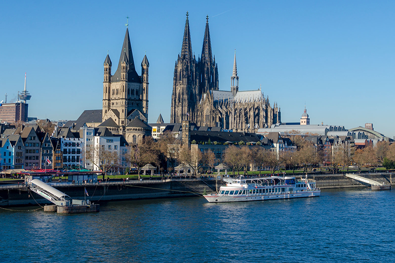 Pontos turísticos em Colônia na Alemanha