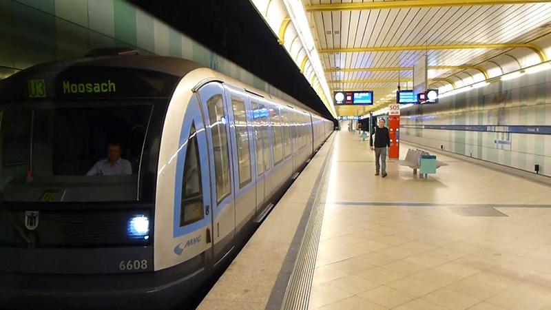 Estação de U-Bahn em Munique