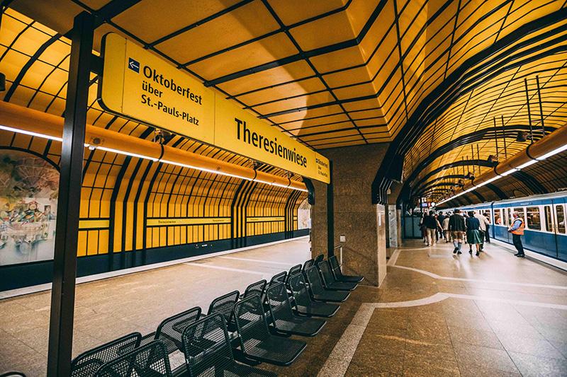 Estação de metrô em Munique