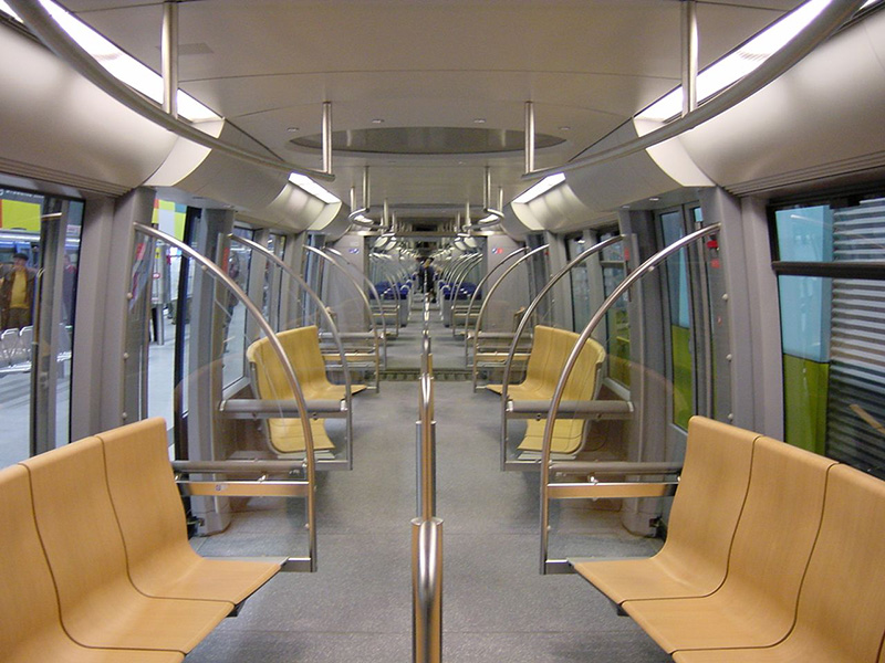 Interior do U-Bahn em Munique