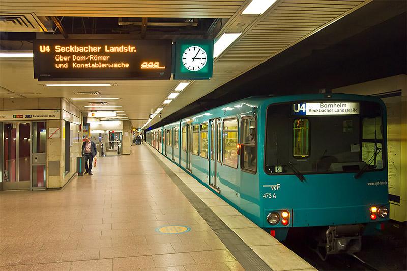 Estação de Metrô em Frankfurt