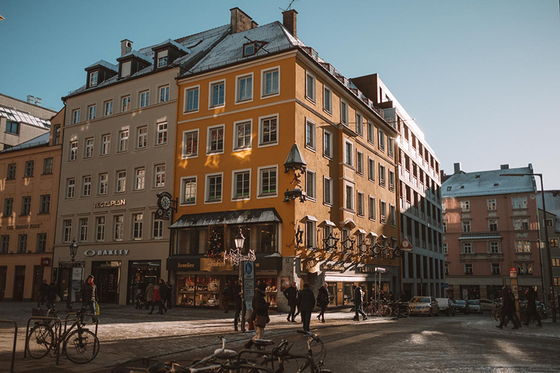 Centro Histórico de Munique no inverno