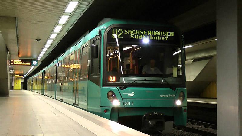 Metrô em Frankfurt