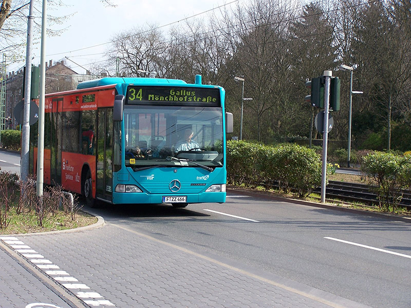 Ônibus em Frankfurt
